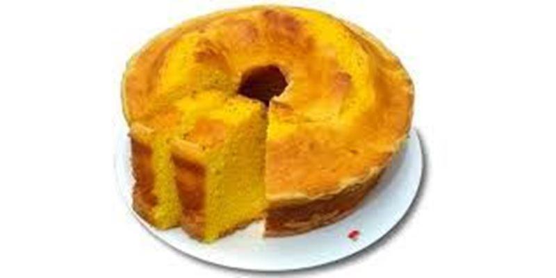 Fatia de bolo caseiro